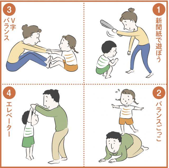 家の中で安全に親子でできる運動